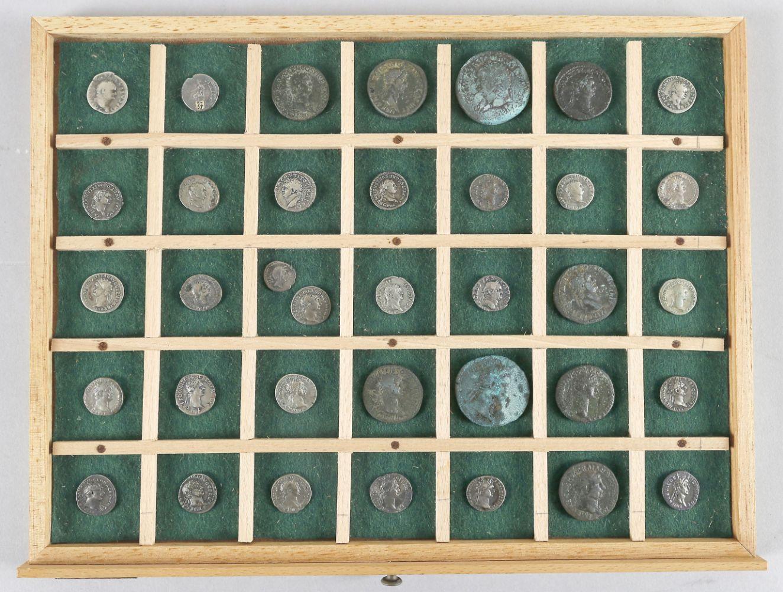 Europäische Goldmünzen, römische Münzen, Antiken