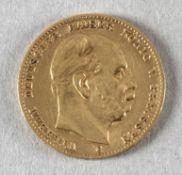 Goldmünze, 10 Mark, dt. Kaiserreich (Preußen), 1873 C, Wilhelm I.