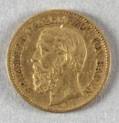 Goldmünze, 10 Mark, dt. Kaiserreich (Baden), 1875 G, Friedrich