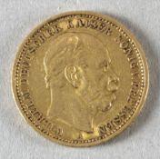 Goldmünze, 20 Mark, dt. Kaiserreich (Preußen), 1875 A, Wilhelm I.