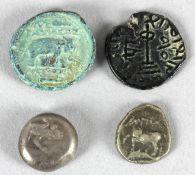 4 antike Münzen