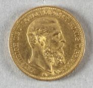 Goldmünze, 20 Mark, dt. Kaiserreich (Preußen), 1888 A, Friedrich III.