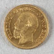 Goldmünze, 5 Mark, dt. Kaiserreich (Baden), 1877 G, Friedrich