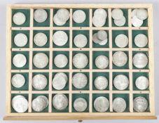 Konvolut 45 österreichischer Schilling-Münzen