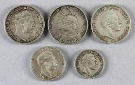 5 Münzen dt. Kaiserreich