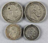 4 Münzen dt. Kaiserreich (Preußen)