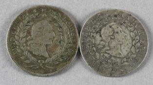 2 Münzen Bayreuth