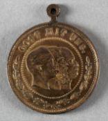 Tragbare Bronzemedaille, Cavalerie-Verein Völklingen und Umgebung, wohl 1888