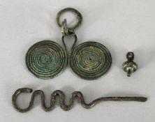 Brillenanhänger, Bronzezeit, 1300-800 v. Chr.