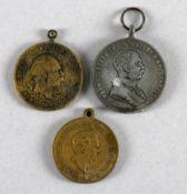 3 deutsche u. österreichische Medaillen