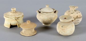 Konvolut 5 antiker Gefäße