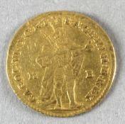 Goldmünze, 1 Dukat, Ungarn, 1732, Karl VI.