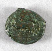 Griechische Bronzemünze, Sicilia