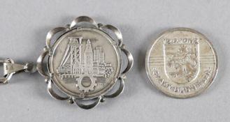 Zwei Medaillen Dudweiler (Saarland) 1962, Silber
