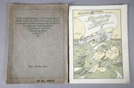 Heinrich Vogeler (Bremen 1872-1942 Karaganda), Atlantisches Tageblatt der Hamburg Amerika Linie