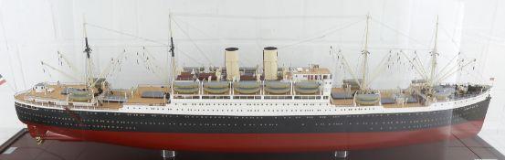 Schiffsmodell 'Albert Ballin' (Doppelschrauben Turbinendampfer), Maßstab 1:100, Berkefeld & Möller O
