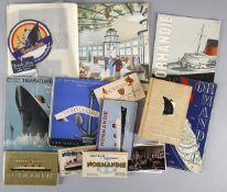 Konvolut 20 Veröffentlichungen der Reederei 'Compagnie GénéraleTransatlantique' (French Line) zum Da