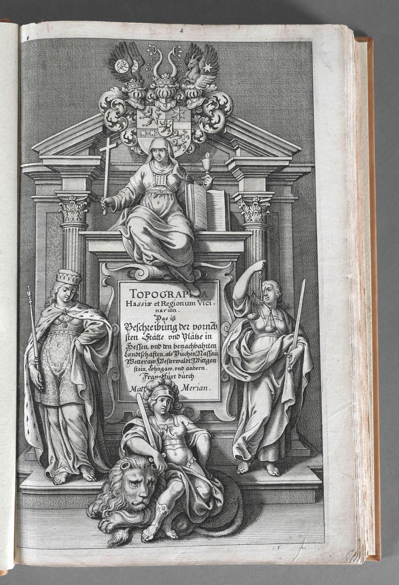 Matthäus Merian (Stiche) und Martin Zeiller (Text), Topographia Hassiae et Regionum Vicinarum