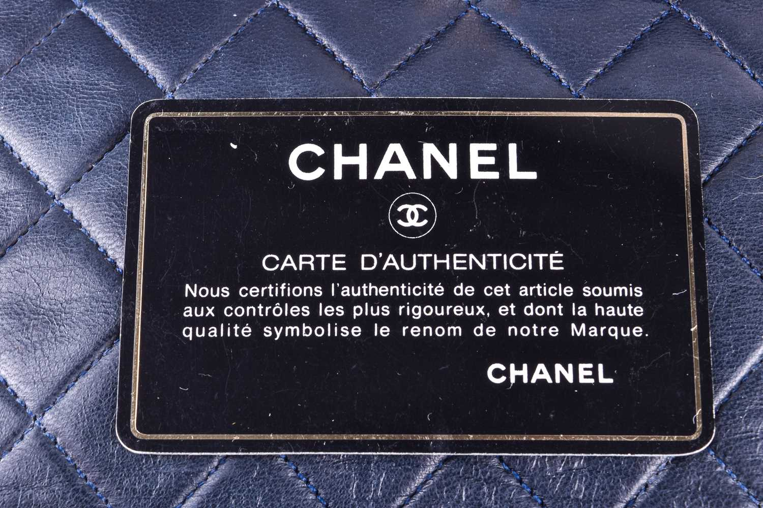 Chanel. A classic quilted leather handbag, of tapered square design, with gold tone CC logo clasp, - Image 7 of 26
