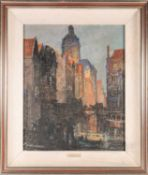 Herbert Davis Richter (1874-1955) British, 'The Old Church, Amsterdam', pastel on board, signed to
