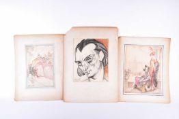 S Atkinson-Potts, 'Fine Feathers' & 'Fairing for the Fair', signed, watercolour, 27.5cm x 17.5cm &