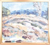 Marianne Bos Mareng (Swedish, 20th century). An impressionist landscape and river scene, signed