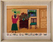 Gladys Hamilton Cooper (1899-1975), 'Xmas Day 1955', oil on board, titled verso, 44 cm x 60 cm