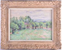 An Impressionist style landscape, oil on canvas, signed Mai ?, attributed verso to 'Giran Max', 27