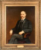 Joseph Sydney Willis Hodges (1828-1900) British, a large portrait of Charles Townsend Murdoch MP (