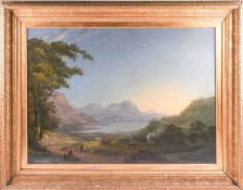 19th century English school, a large Lake District landscape, possibly Windermere viewed from