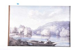 19th century English School, ' Clifden bank from Maidenhead Bridge', dated August 1833, watercolour,
