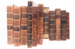 A small collection of antiquarian leather-bound books to include Robertson, William. The History