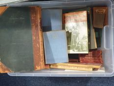 A large mixed lot of books contained in two boxes, to include collectable and children's examples (