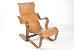 """A 20th century Marcel Breuer (1902-1981) for Isokon """"short chair"""" initially designed in 1936 and"""