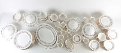 A Paragon China dinner service in the Meadowvale pattern, comprising four covered tureens, two