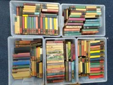 A large quantity of books, contained in five boxes, to include Society and World Books editions,