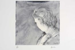Henry Moore (1898-2006), unframed lithographic print in colours, signed below the print with 'PA',