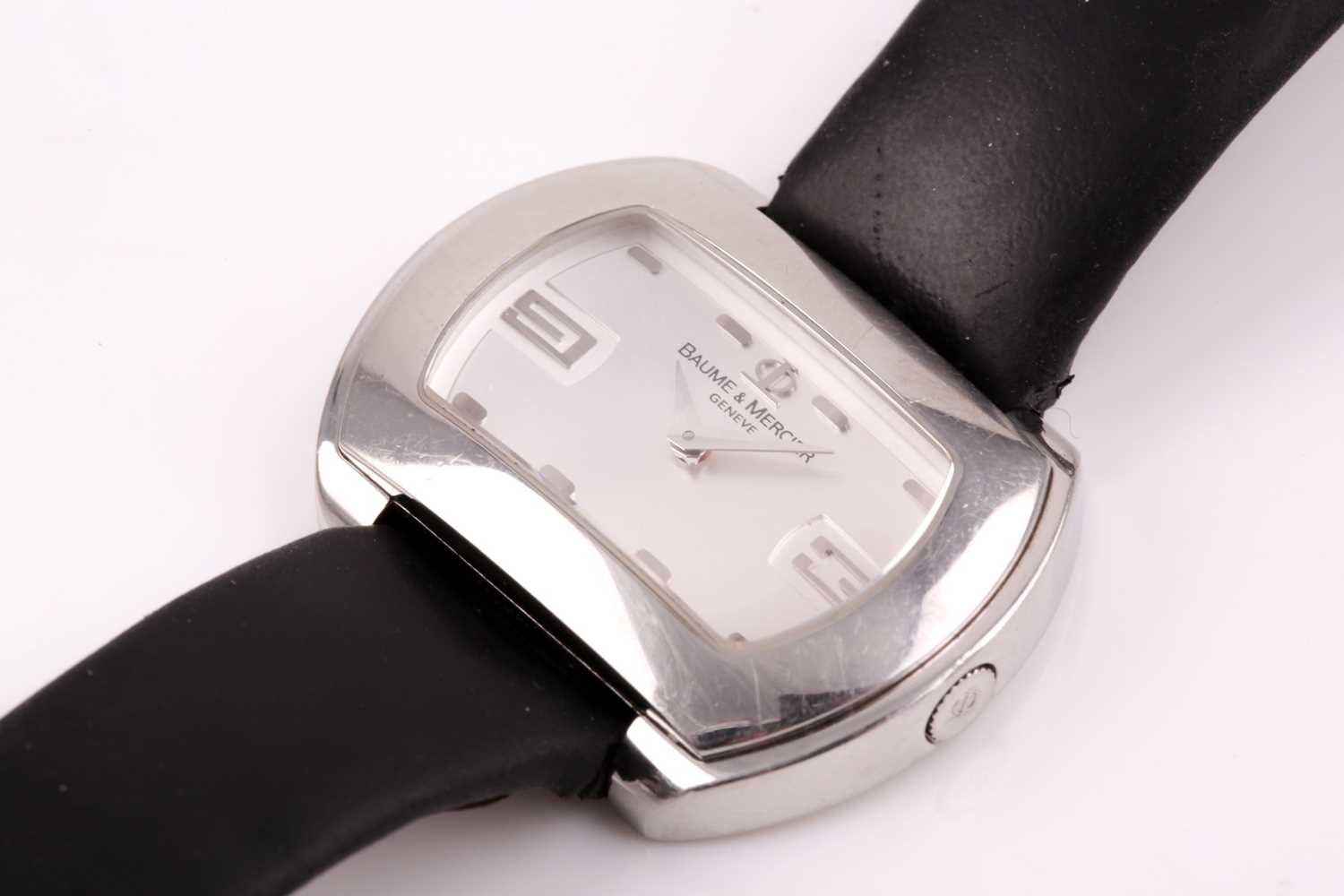 A Baume & Mercier ladies stainless steel oval wristwatch, the silvered dial with larger 3 and 9 - Image 11 of 11