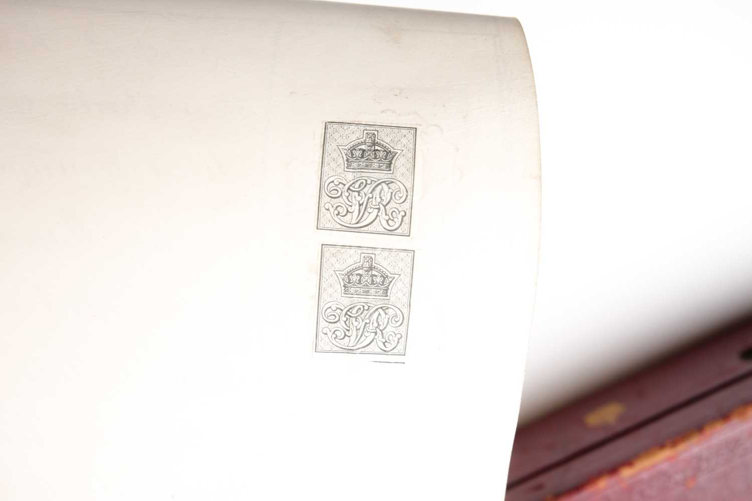 Grant of Arms. A velum Letters Patent to Sir Matthew Ingle Joyce of Blackfordly in the county of - Image 3 of 9