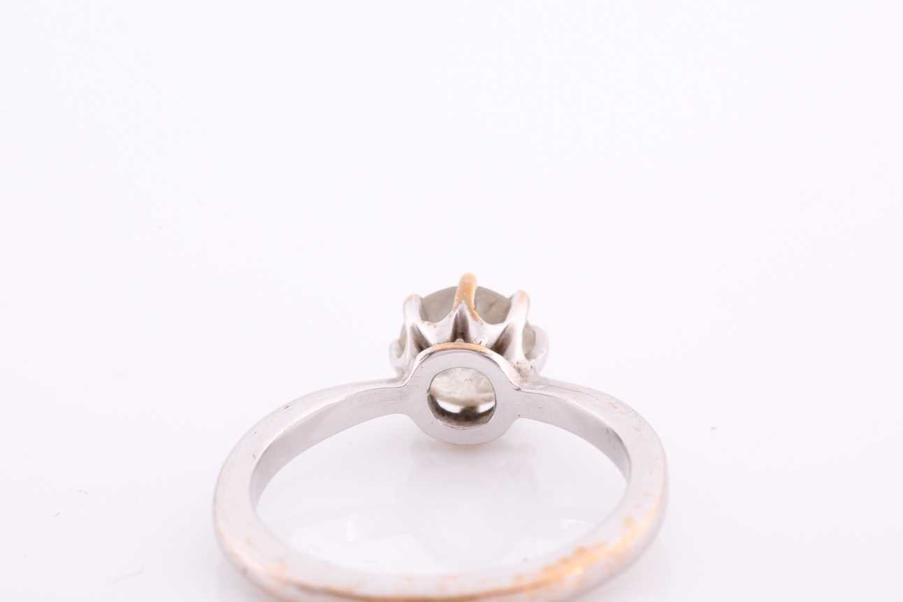 An 18ct white gold and solitaire diamond ring, set with a round-cut diamond of approximately 0.80 - Image 4 of 4
