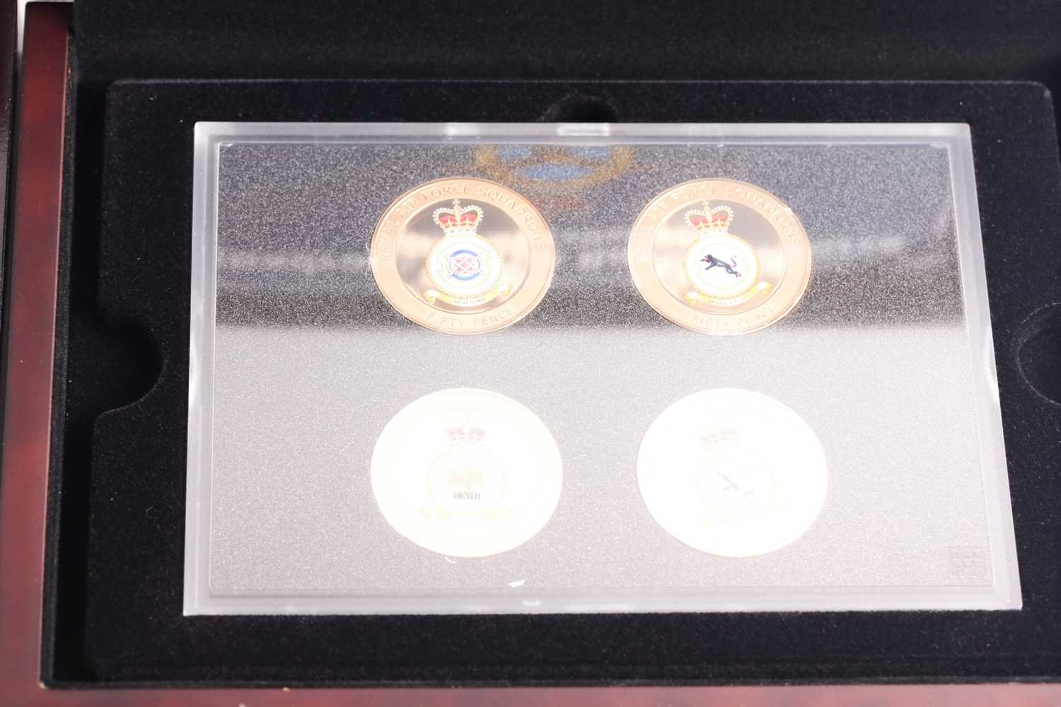 Eight boxed sets of commemorative coins, comprising: 'Squadrons of the Royal Air Force' four-coin - Image 6 of 9