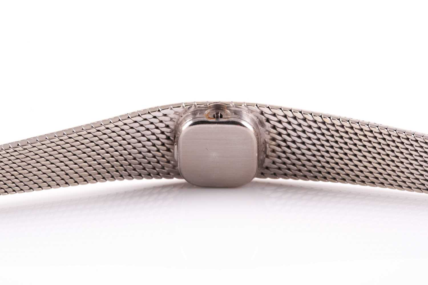 An 18ct white gold ladies Omega cocktail watch, the small baton dial inset into an articulated strap - Image 2 of 5