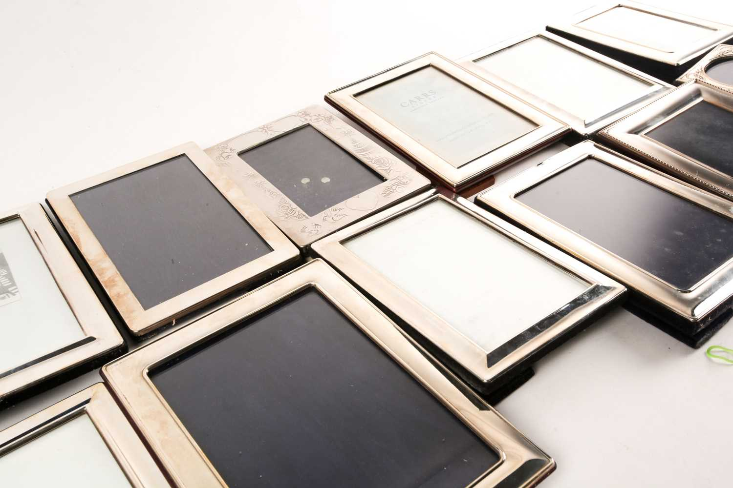 A large collection of silver and white metal mounted photograph frames, the largest aperture size - Image 5 of 5