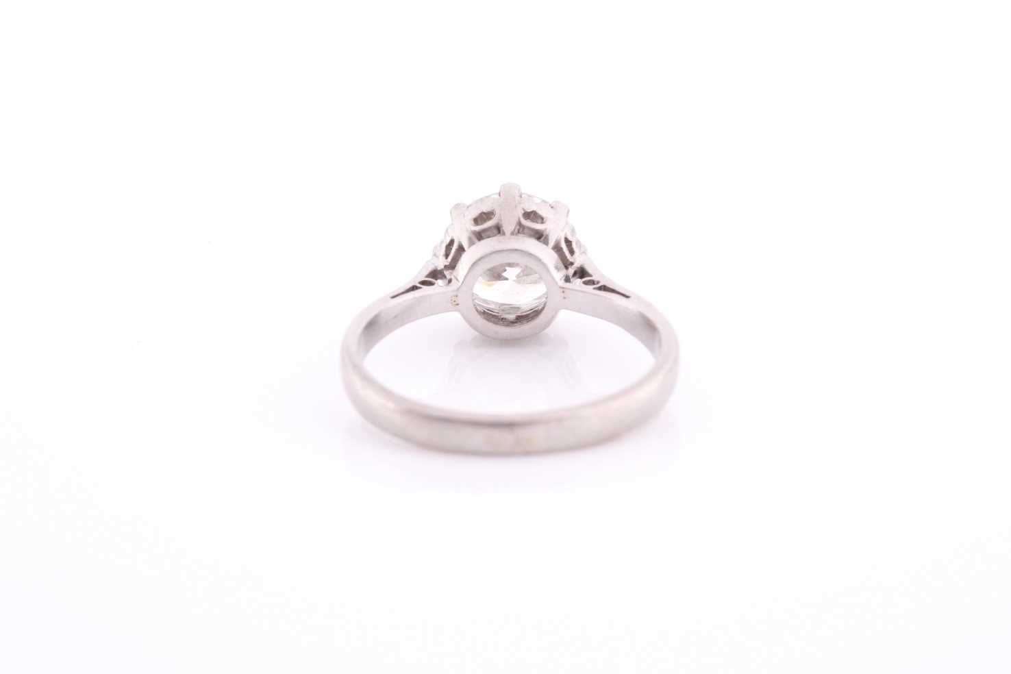 A round brilliant-cut solitiare diamond ring, the diamond of approximately 1.50 carats, - Image 3 of 4