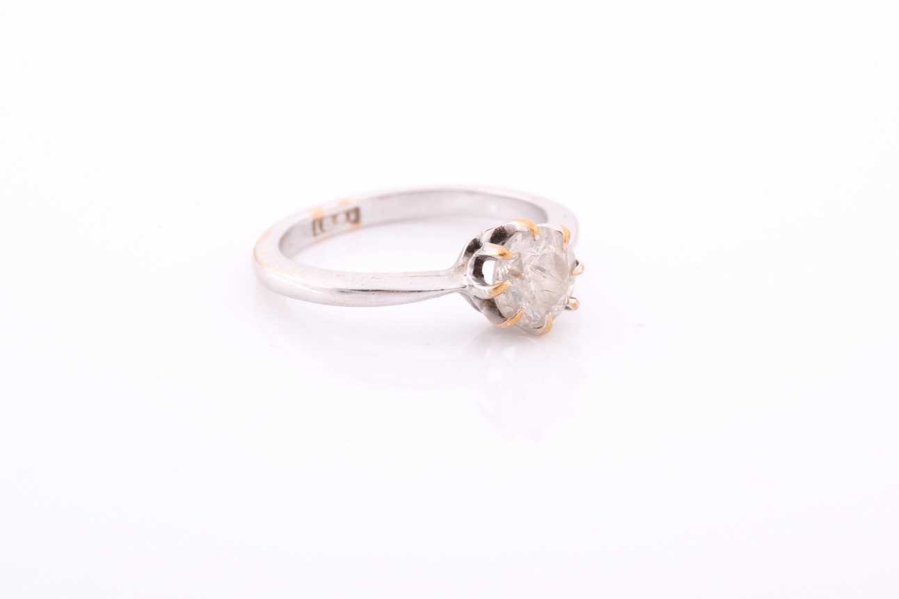 An 18ct white gold and solitaire diamond ring, set with a round-cut diamond of approximately 0.80 - Image 2 of 4