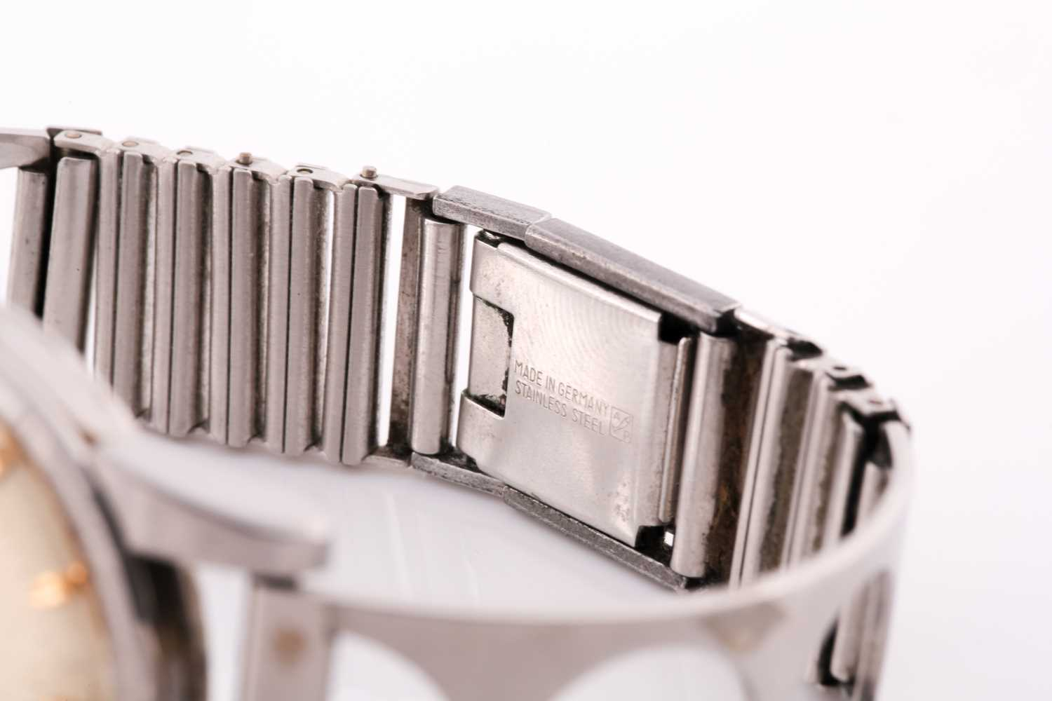 An Omega Seamaster automatic stainless steel wristwatch, the silvered dial with gilt baton - Image 7 of 7