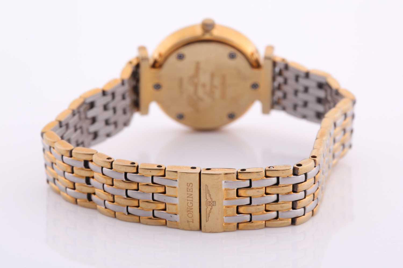Longines. A ladies gilt metal 'La Grande Classique de Longines' wristwatch, gilt baton dial on - Image 5 of 6