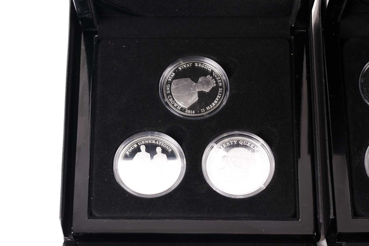 Eight boxed sets of commemorative coins, comprising: 'Squadrons of the Royal Air Force' four-coin - Image 3 of 9