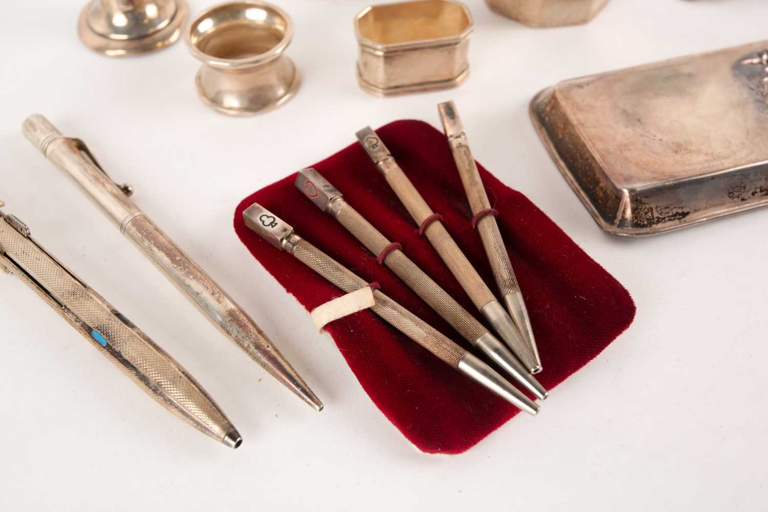 """A Boscolour silver four colour pen together with other items of silver including, a Barker's """"Perm- - Image 5 of 5"""
