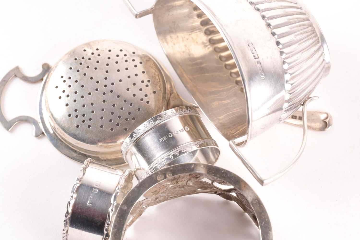 A Victorian silver Christening mug of waisted form. London 1842? makers marks rubbed. Together - Image 2 of 5